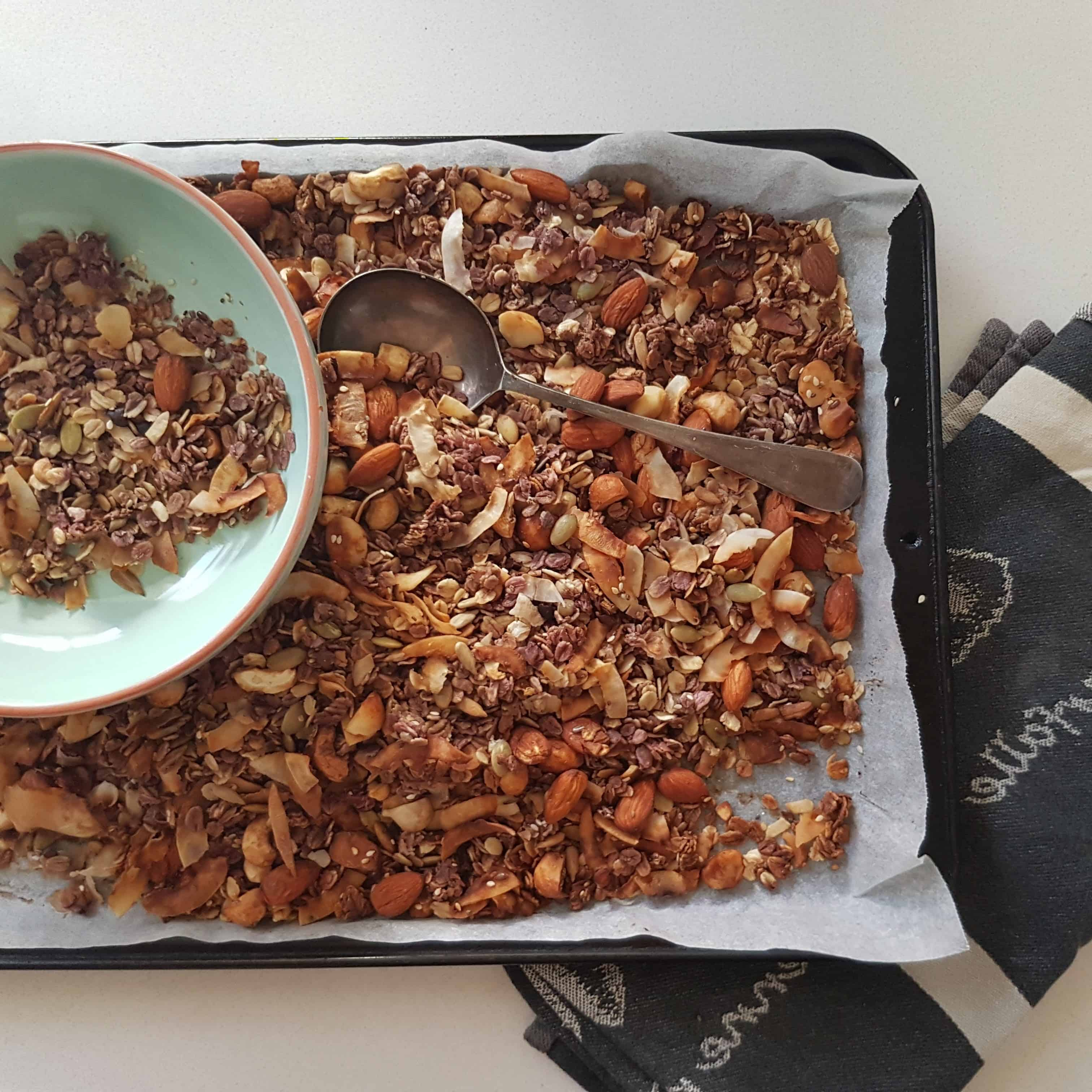 A tray of freshy made muesli