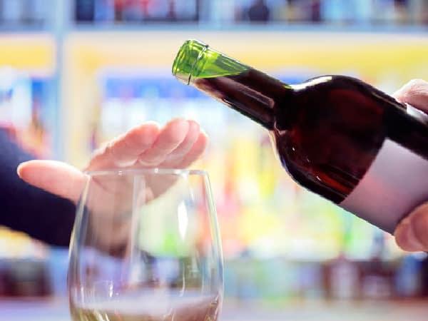 saying no to wine