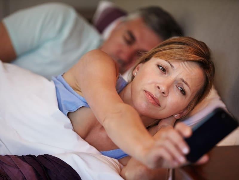 older woman not sleeping