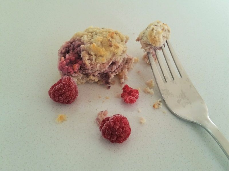 Easy and Healthy 5 Minute Raspberry And Coconut Muffin Recipe