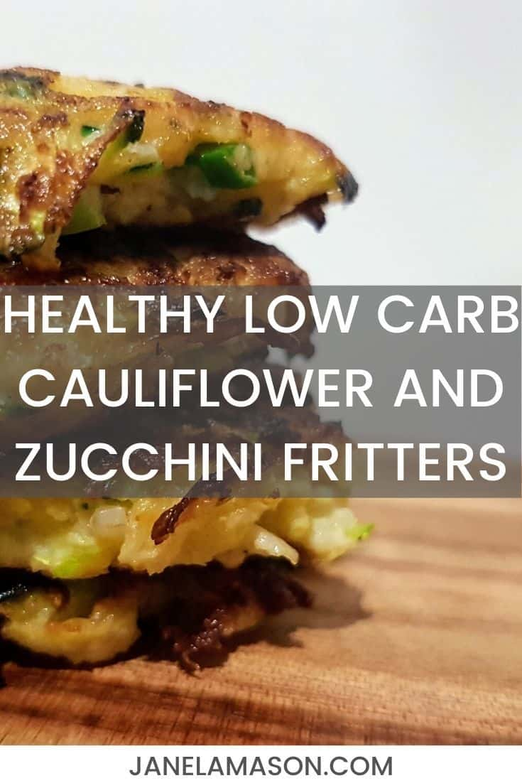 Healthy Low Carb Cauliflower And Zucchini Fritters