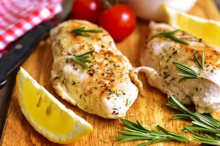 Lemon, herb baked chicken breast recipe