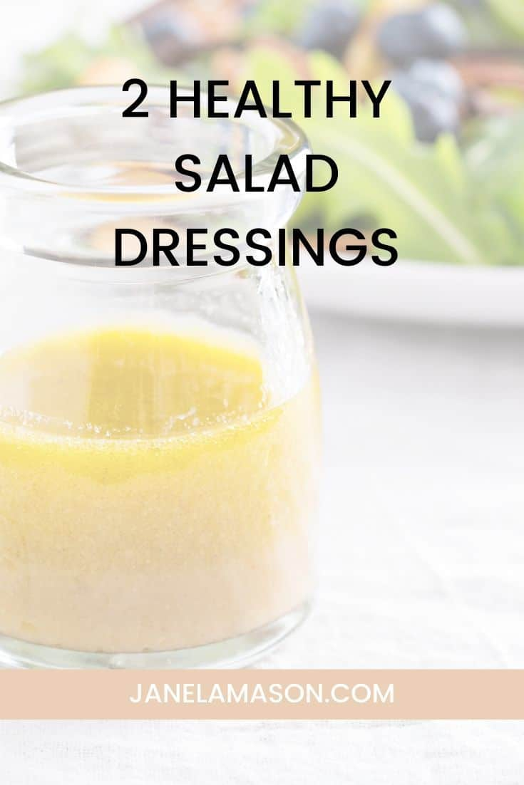 Two Healthy Salad Dressing Recipes