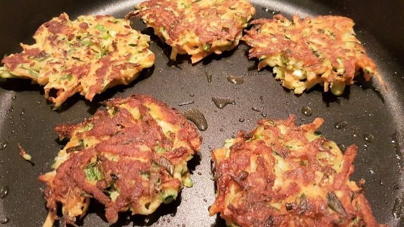 Grain Free Zucchini and Sweet Potato Fritters