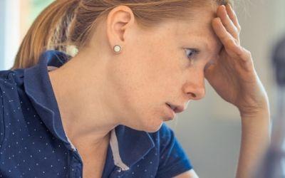 Woman reducing menopause symptoms naturally