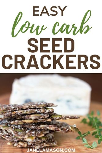 Low Carb Seed Crackers