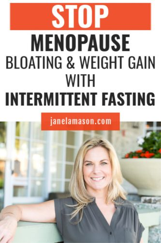 pin menopause bloating and weight gain with intermittent fasting