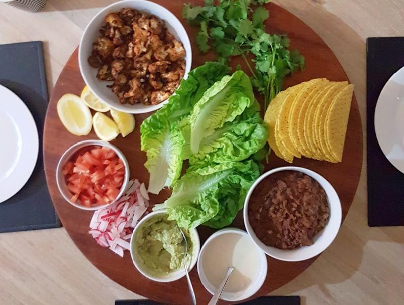 Vegan Cauliflower and Black Bean Tacos