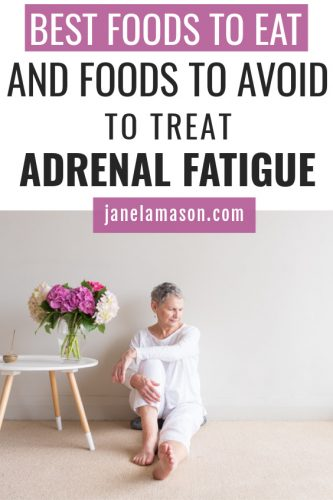 woman with adrenal fatigue - foods to eat