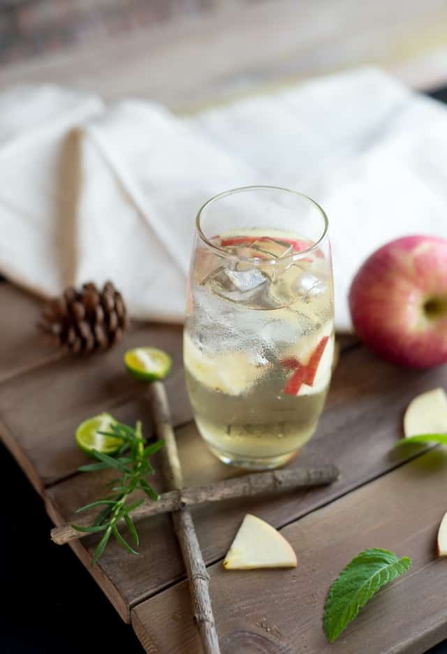 Delicious looking apple cider vinegar drink for improving menopause symptoms
