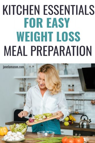 WOMAN doing weight loss food preparation