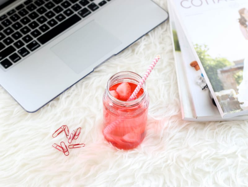Cranberry juice drink in a glass