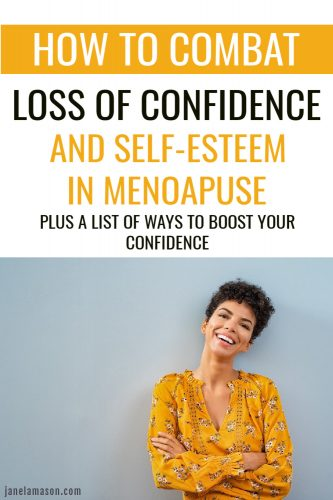 pin of confident woman smiling