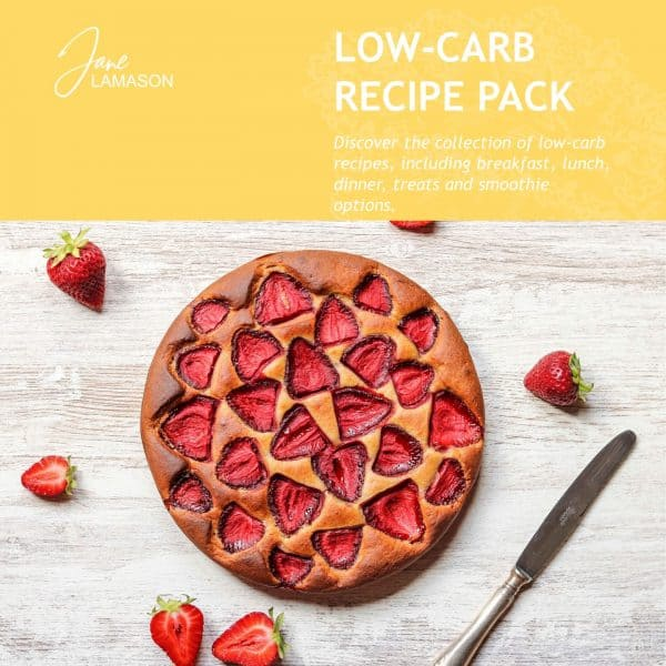 low carb strawberry tart