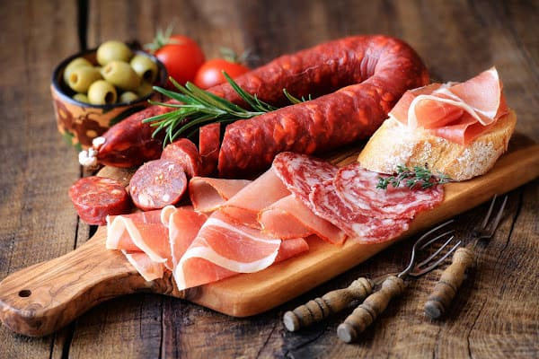 various processed meats