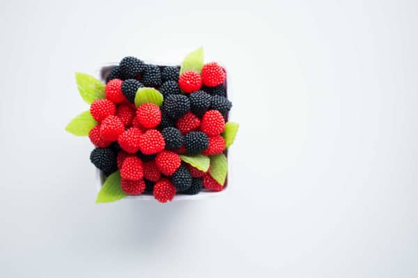 a box of mixed berries