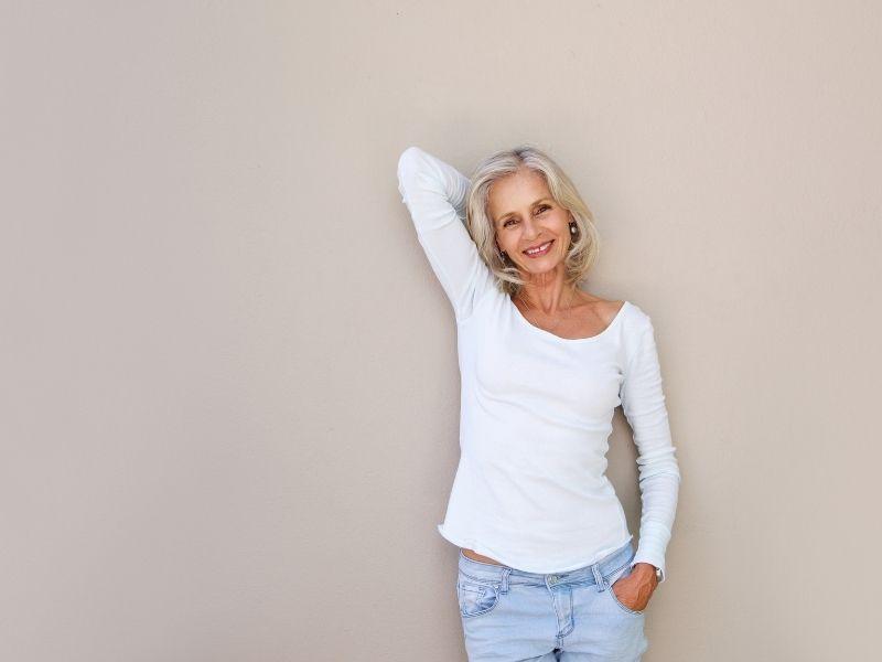Older woman in menopause