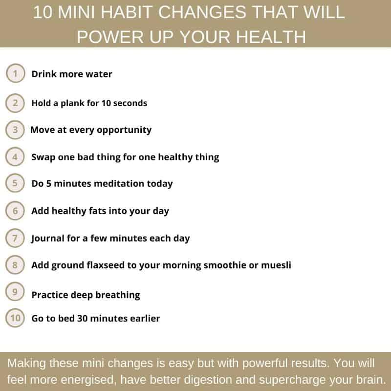10 mini changes infographic