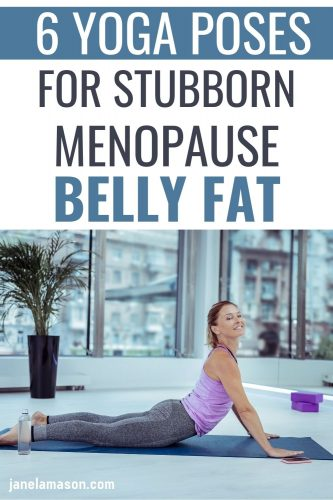 mature woman doing cobra pose to lose belly fat